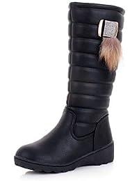 Zapatos de mujer Botas de nieve tela plataforma/comodidad/punta redonda botas vestido/casual negro/marrón/blanco/naranja, naranja, us7.5 / eu38 / uk5.5 / cn38