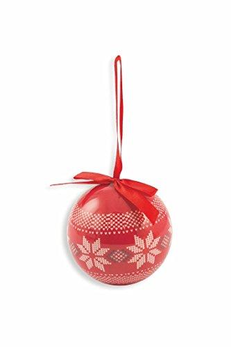 Galileo casa christmas set palle natalizie renna, polyfoam, rosso/bianco, 8x8x8 cm, 14 unità