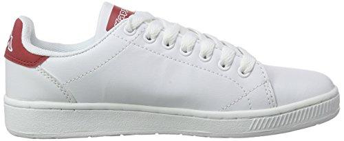Kappa - COURT, Scarpe da ginnastica Unisex – Adulto Bianco (1020 White/red)