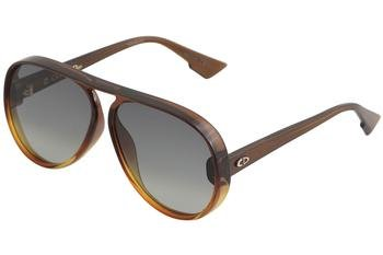 Christian dior diorlia 1i 12j, occhiali da sole donna, marrone (brown orange/grey grey), 62