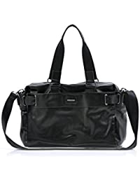 SODIAL(R) Men'S Travel Bags PU Leather Luxury Style Men'S Messenger Bag Large Capacity Men Bags-black