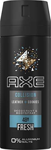 AXE Collision Leather und Cookies ohne Aluminium Deospray, 150ml