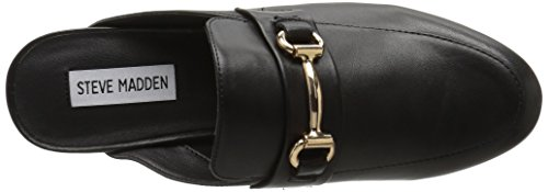 Steve Madden Kandi Black Leather - Ciabatte Nere In Pelle Black