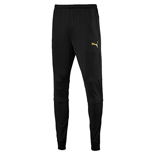 Puma AC Milan Training with Zipped Pockets Regular Fit Pantalones, Hombre, Black/Victory Gold, Medium