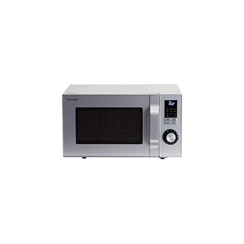 Sharp Home Appliances R644S Mikrowellen-Kombinationsgerät 23 l, 900 W, silberfarben, Mikrowelle, kombiniert, 23 l, 900 W, Drehknöpfe, silberfarben