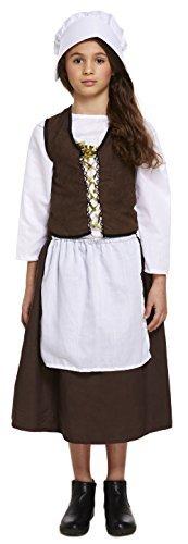 Mädchen Historisch Viktorianisch Dienstmagd Welttag Des Buches Kostüm Kleid Outfit 4-12 years - 10-12 (Viktorianischen Kostümen Mädchen)