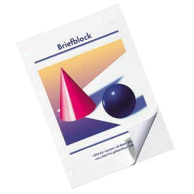 10 Stück Briefblöcke / DIN A4 / kariert / 80 g/m² / 50 Blatt / gelocht