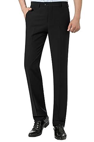 Spring/Summer Mens Straight Suit Trousers Flat Pleat Regular Fit Pants Size 30-44 (W31/L31