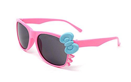 Ultra® Rosa mit blauen Bogen süß Multi Color Kostüm spielen Cos spielen 3D-Brille für Kinder Kinder Objektiv Hase Herz Bogen Frames