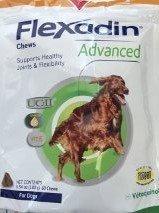 VETOQUINOL Flexadin avanzata con UC-II per Cani e Gatti 60 Chews Tutti i Cani