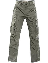 Mens Cargo Pants Life - olive par GEAR 100% coton par Gear