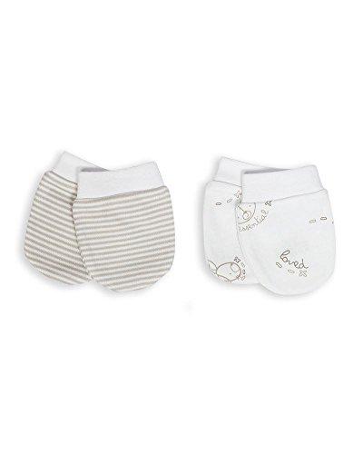 The Essential One - Baby Kratzhandschuhe für Neugeborene / Kratzfäustlinge / Kratzfäustel, Neugeborenenhandschuhe (2 Paar) - ESS101