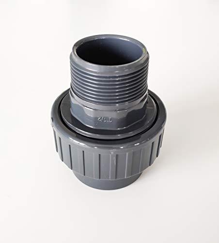 """Raccord Union Mixte 3 pièces PVC Pression ø 50 mm intérieur à coller vers filetage 1""""1/2"""