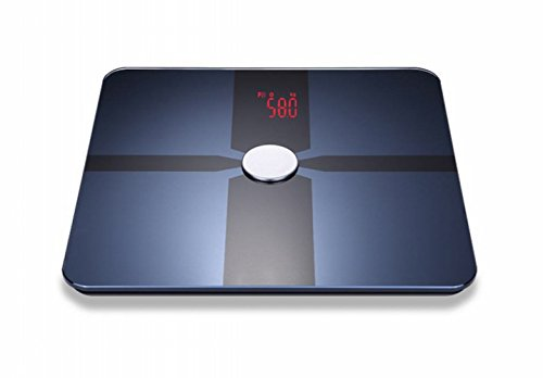 RTDZC Smart Bluetooth Weight Fat Electronic Scale,black,One size