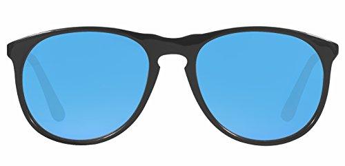 Glassic UV Protected round Men Polarised Sunglasses – Banner M in Pop-Blue | 54| Blue Lens