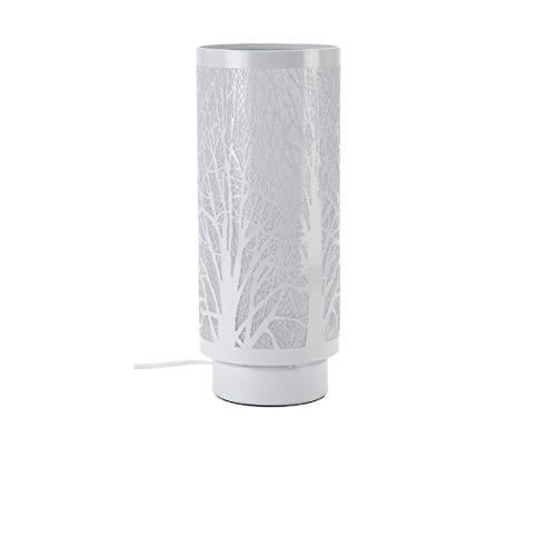 Mathias 3470426 Lampe Touch-Tree Blanc D13,5 H33, Métal, E14, 28 W