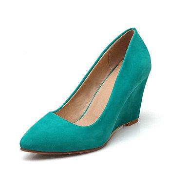 Ch & Tou Womens-heels-leisure / Formal / Casual-talones-wedges-patent / Pu (poliuretano) -negro / Beige / Borgoña / Verde Claro
