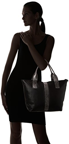 Sabrina Marianne, Sac porté épaule Noir (Noir/Graphite)