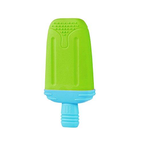 LaRooTM Hundespielzeug Eiscreme Kegel Design Spielzeug Hunde Chew Spielzeug Kreatives Kühlen Spielzeug im Sommer für Hunde und Haustiere - Gelb (Grün of Ice Bar Design) (Kleine Safety Cones)