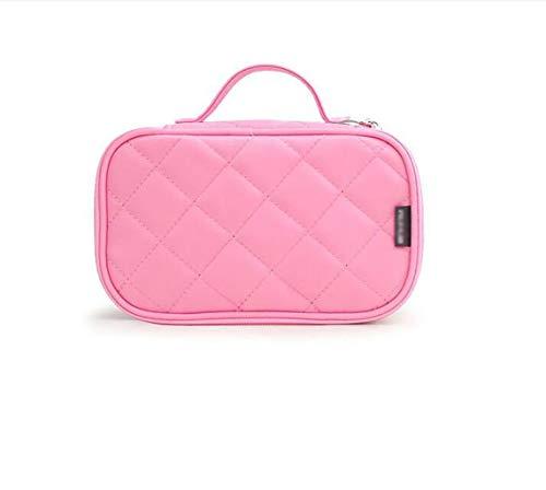 BLHZPD Kosmetiktaschen für Frauen, Reise-Kosmetiktasche, Kulturbeutel mit Spiegel (Farbe : Rosa, größe : One Size)