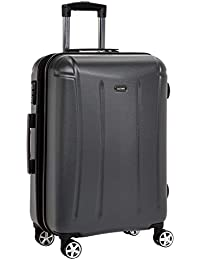 Amazon Brand - Solimo 68.5 cm Hardsided Luggage with TSA Lock, Grey