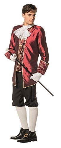 W5084A-52 Wein-rot Herren Marquisen Kostüm Barock Anzug Gr.52