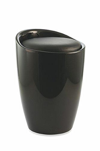 Galileo Casa 2420498 Pouff Boîte, ABS, Noir, 37 x 37 x 45.5 cm