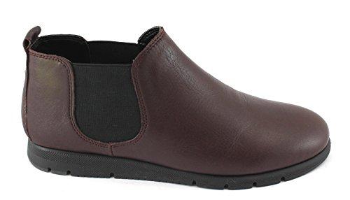 Frau Fx Bottes Bordeaux 53P2 Chaussures Bottes Beatles Confort de la Peau