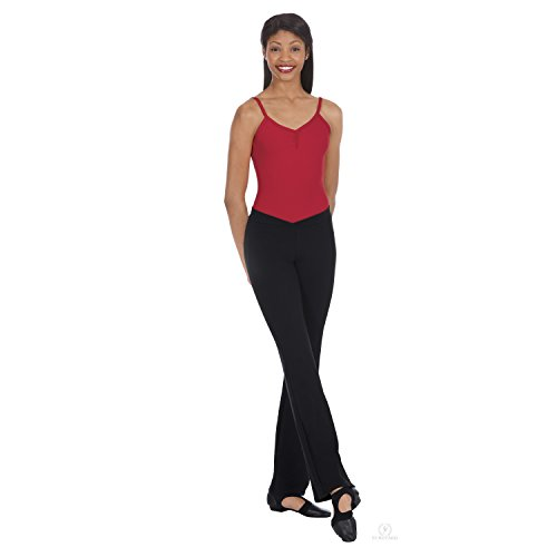 Eurotard Womens V Front Low Rise Jazz Pants (46757) -Black -S Front Jazz Pant