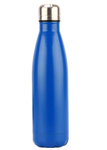 Aoweika Vakuum-Isolierte Edelstahl Trinkflasche, auslaufsicher-500ml, Thermosflasche für Kinder, Mädchen, Schule, Kindergarten, Sport, Wandern, Camping, Outdoor (500ml, Mattblau)