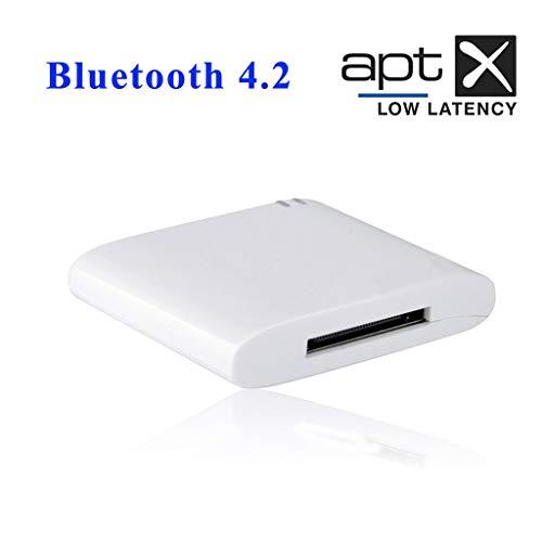 Webla - Bluetooth Music Receiver Supporta adattatore Super Compatible Adattatore Bluetooth 30 Pin Bluetooth 4.2 Aptx Adattatore audio stereo a bassa latenza