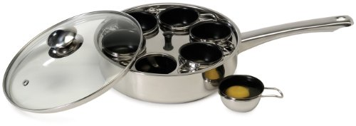 Excelsteel 18/10 Stainless 6 Non Stick Egg Poacher Non-stick Egg Poacher