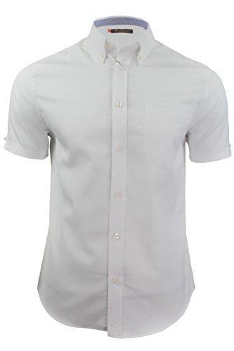 mens-short-sleeved-oxford-shirt-by-ben-sherman-white-xxl