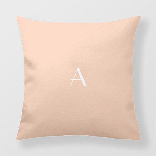 Unbekannt B Lyster Shop Monogramm # 2142W Baumwolle & Polyester Soft Reißverschluss Kissen Werfen Fall Kissen Schutzhülle -