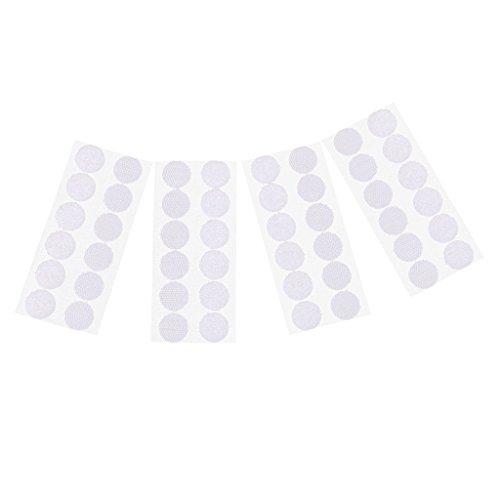 Gazechimp 24 Rund Münzen/Punkte Klettpunkte Klebend Klettverschluss Rund Rücken Haken and Schleife - Weiß - Weiße Schleife Münze