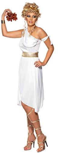 Toga Kostüm Kleid - Smiffy's - Griechin Kostüm Kleid weiß Griechenland Toga Gr L