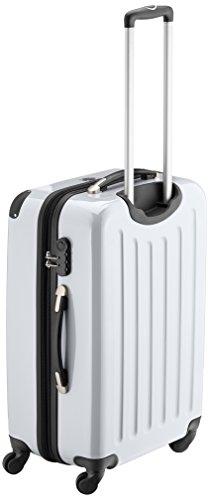 HAUPTSTADTKOFFER - Alex - Hartschalen-Koffer Koffer Trolley Rollkoffer Reisekoffer Erweiterbar, 4 Rollen, 65 cm, 74 Liter, Weiß - 3
