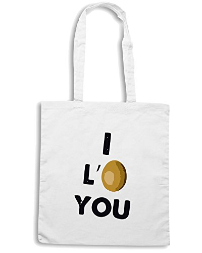 T-Shirtshock - Borsa Shopping TDM00114 i love you Bianco