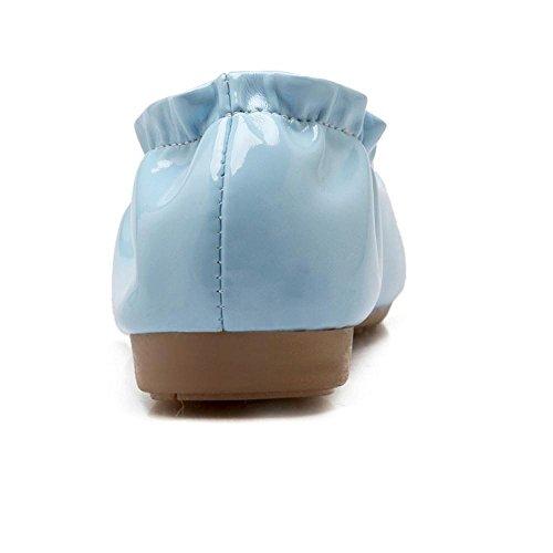 Taoffen - Mocassins À Semelle Compensée Femme, Bleu Clair