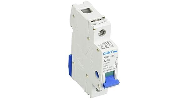 Chint Nh4 1/Tube 90108/Interrupteur Sectionneur Isolateur de 125/A