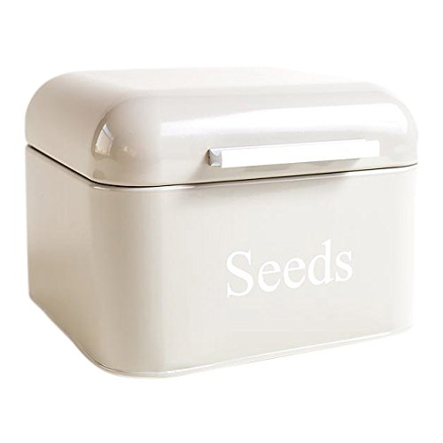 "Dill and Mint Aufbewahrungsdose, Aufschrift \""Seeds\"" in englischer Sprache, Farbe Hurst Pebble"
