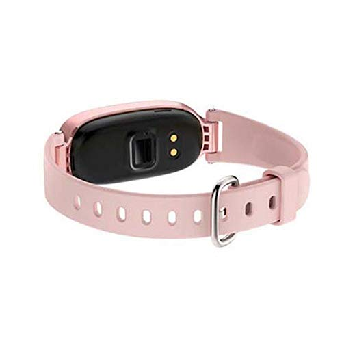 QUARK Fashion Woman Ladies S3 Smart Watch Fitness Band GPS Tracker with Heart Rate Monitor,Pink
