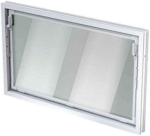 ACO 80cm Nebenraumfenster Kippfenster Isoglasfenster Fenster weiß Kellerfenster, Größe Kippfenster:80 x 60 cm