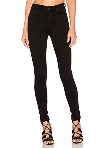 MONYRAY Damen Skinny Jeans Jeanshose High Waist aus Baumwoll-Stretch(schwarz, 24) (Gefärbt Qualität Bleistifte)