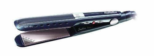 BaByliss ST227E - Plancha para uso en cabello húmedo o seco con pantalla LCD