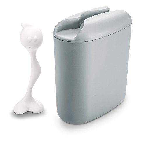 Koziol Vorratsdose 500 g Hot Stuff, Kunststoff, Cool Grey mit Weiß, 8,5 x 17 x 20 cm