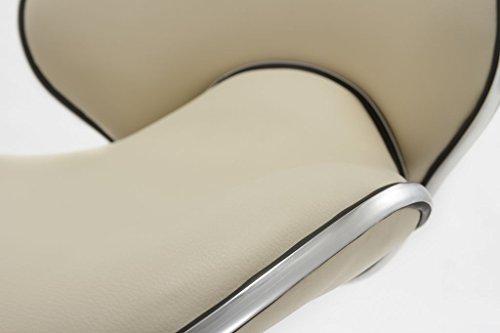 Sgabello girevole similpelle crema beige sedie girevole regolabile