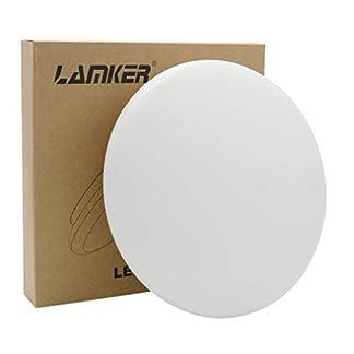 Lamker Plafoniera led lampada da soffitto led 18W IP44 1550LM plafoniera moderna per camera da letto Bagno Corridoio Soggiorno Cucina Corridoio