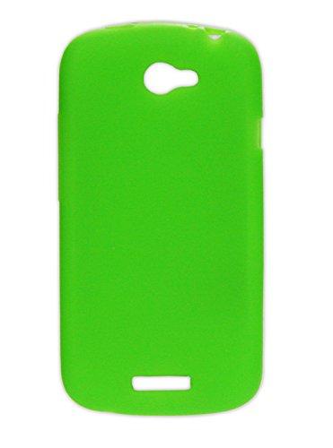 Ektor Custodia Cover in Silicone con Design Innovativo per HTC One S - Verde