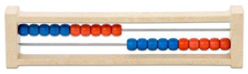 Rechenschieber Rechenrahmen Zahlenraum 20, aus RE-WOOD®, rot/blau, Rechnen lernen, Grundschule Mathematik, Lehrmittel, Holz, Holzrechenrahmen, Abakus, Abacus (Abacus Für Kinder)